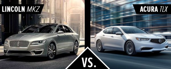 Left: 2018 Lincoln MKZ. Right: 2018 Acura TLX
