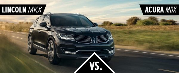 The 2018 Lincoln MKX driving down the road.