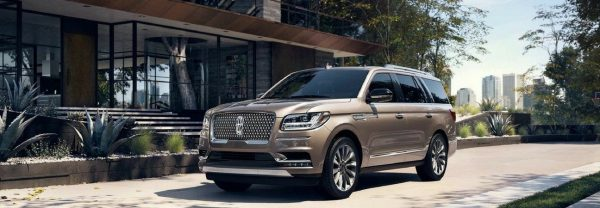 2018 Lincoln Navigator parked in front of house