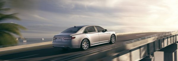A 2019 Lincoln Continental driving down the road